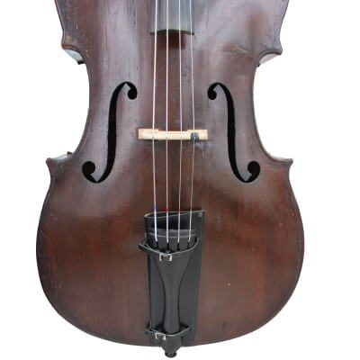 Slim Black Double Bass Bow Quiver by Bass Bags fitted