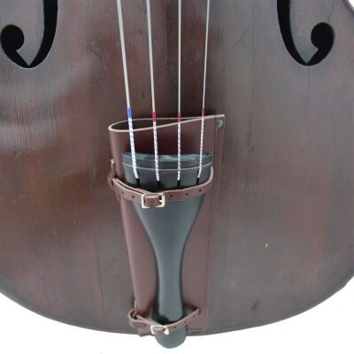 Bass Bags Brown Orchestral Double Bass Bow Quiver Close up