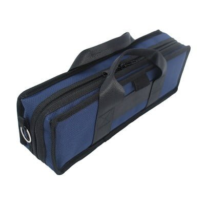 Navy Clarinet Case Outside Angle