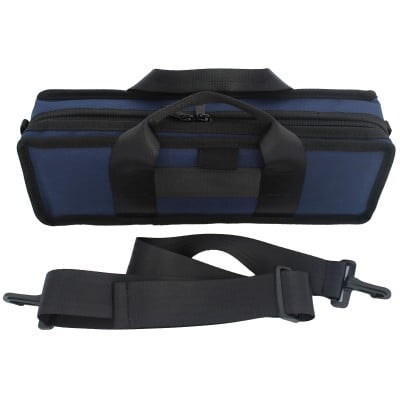 Navy Clarinet Case Outside with Strap