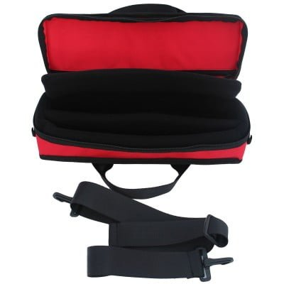 Red Clarinet Case Inside With Strap