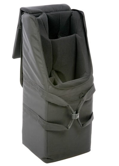Bass Bags Quad Clarinet Case for Bass A Bb and Eb Clarinets Open