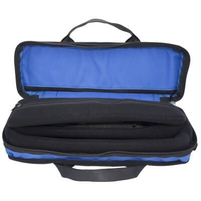 Bass Bags Compact and Lightweight Blue Clarinet Case Open