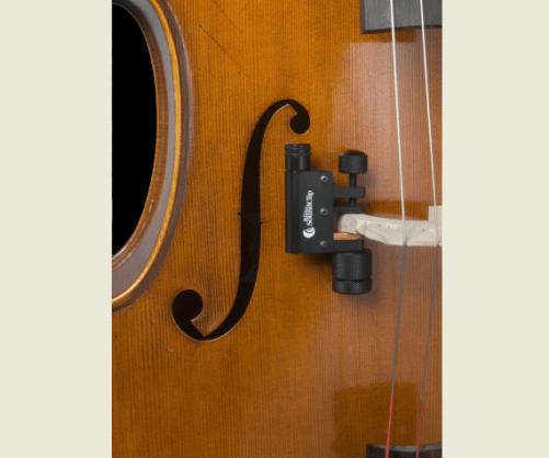Realist Cello SoundClip Fitted to Cello Bridge