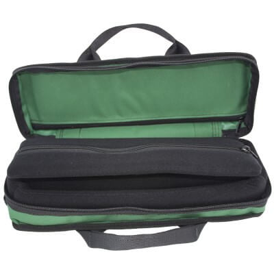 Bass Bags Green Clarinet Case Open