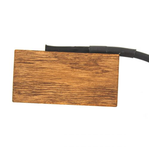 Realist Woodtone double bass transducer pickup in wood