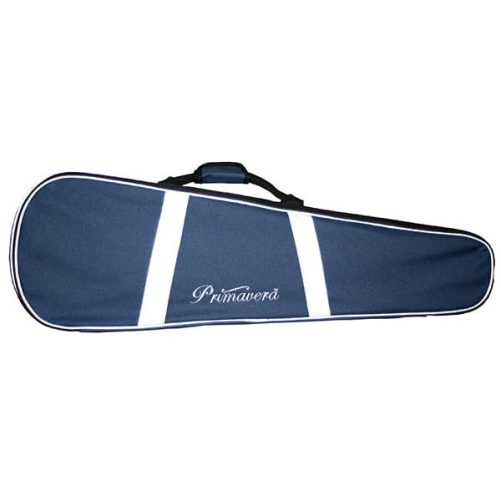 Front View of Primavera Blue Reflective Violin Case