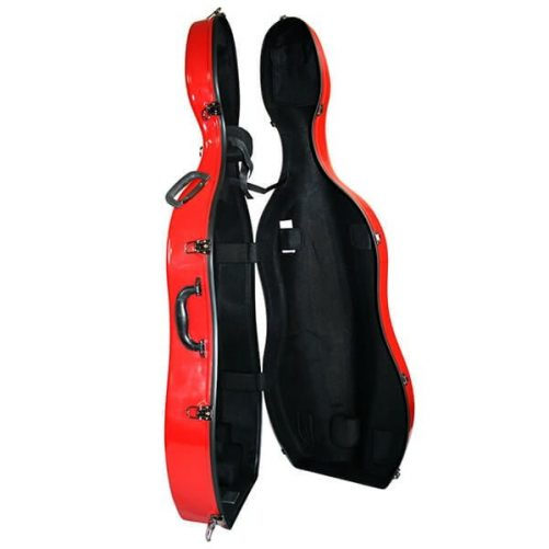 Red Sinfonica Cello Case Open 1