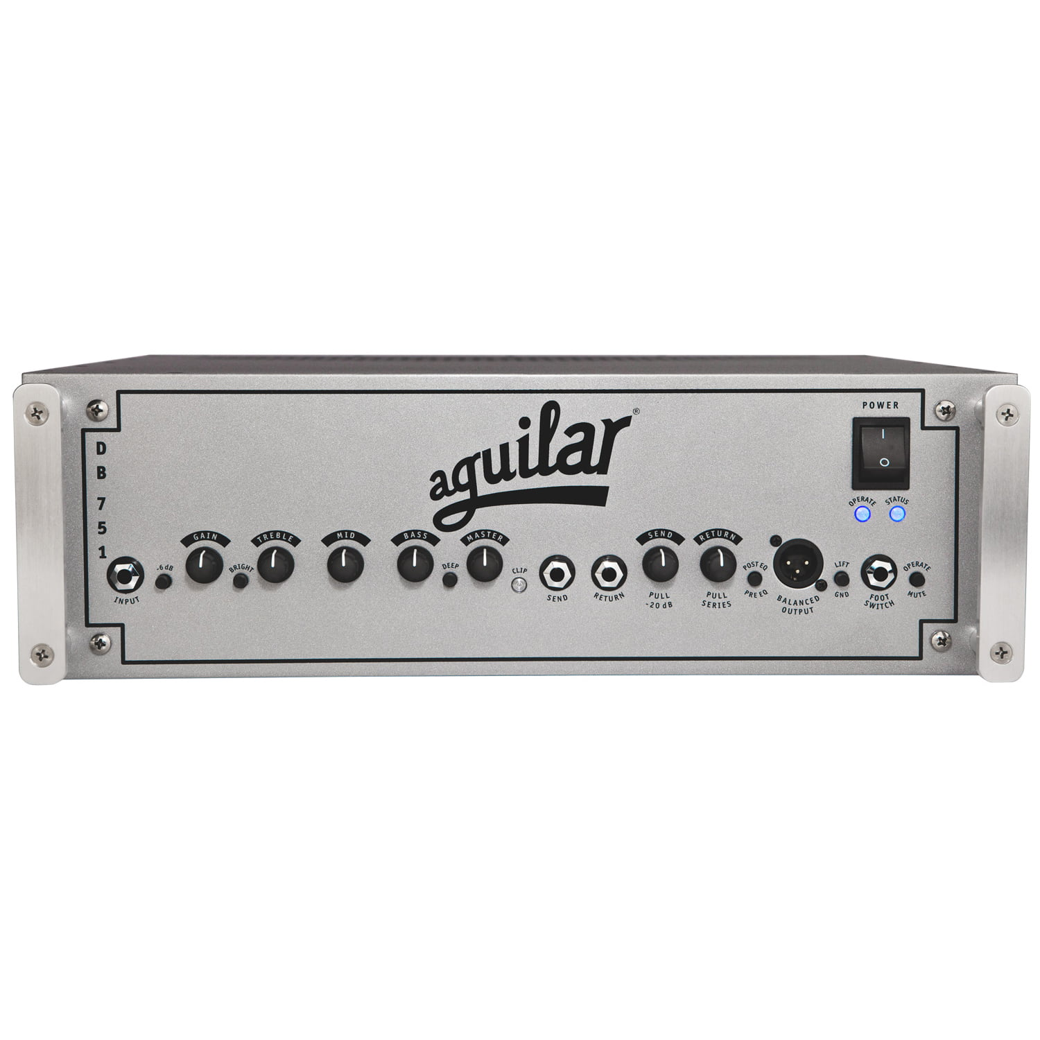 Aguilar DB751 Bass Amp Front Square