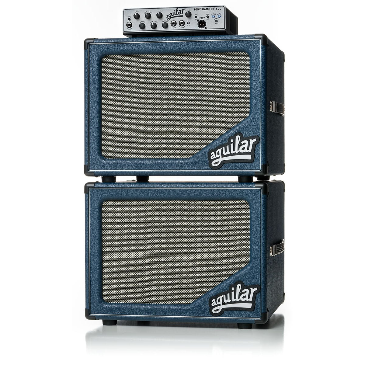 Aguilar sl112 Blue Bossa bass cabinet stack with Tone Hammer bluesl-5