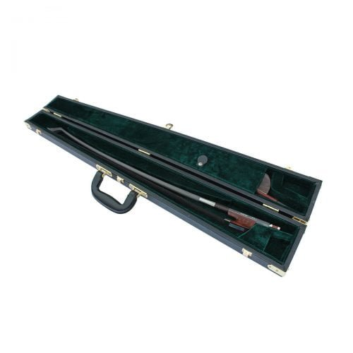 Double Bass Bow Case for Two Bows Black