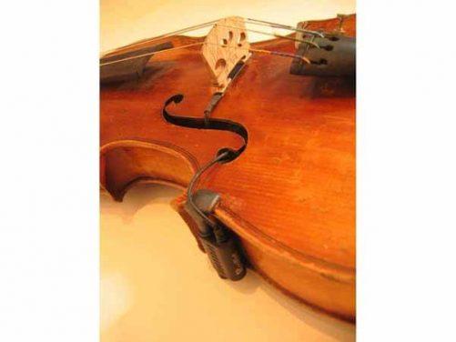 Realist Violin Pickup Installed