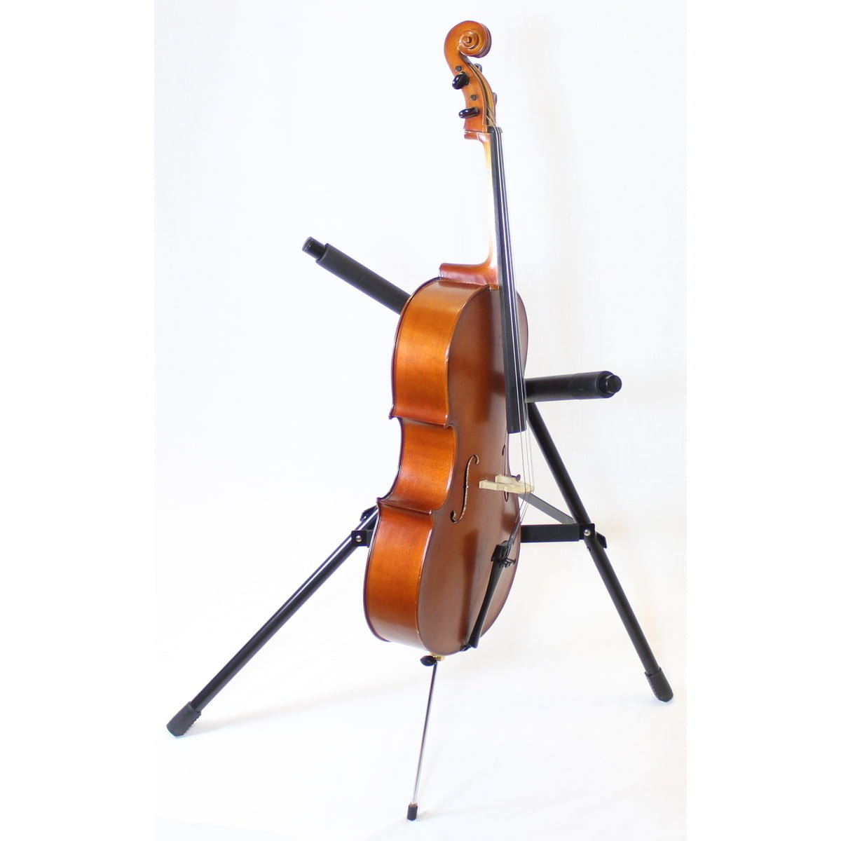 Used and Needing Repair Primavera 100 1/8 Size Cello Side View