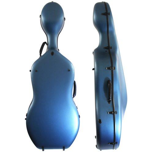 Orchestra Cello Case Matt Blue Back