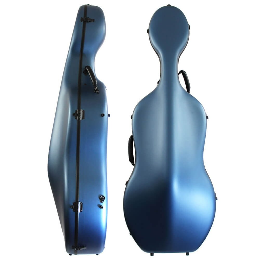 Orchestra Cello Case Matt Blue Front