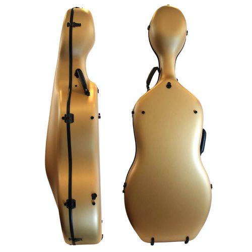 Orchestra Cello Case Matt Gold Back