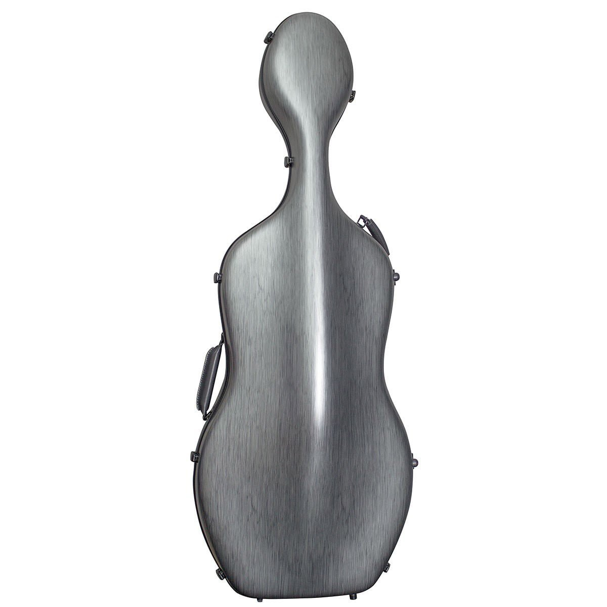 Hidersine Polycarbonate Cello Case in Brushed Silver