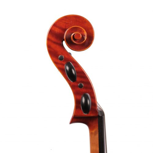 Jay Haide Plain Cello side view of scroll