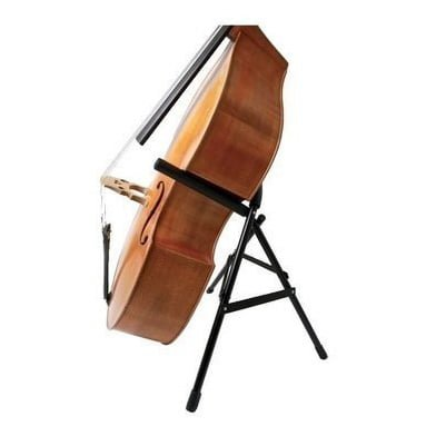 The McNutt bass cradle holding a double bass