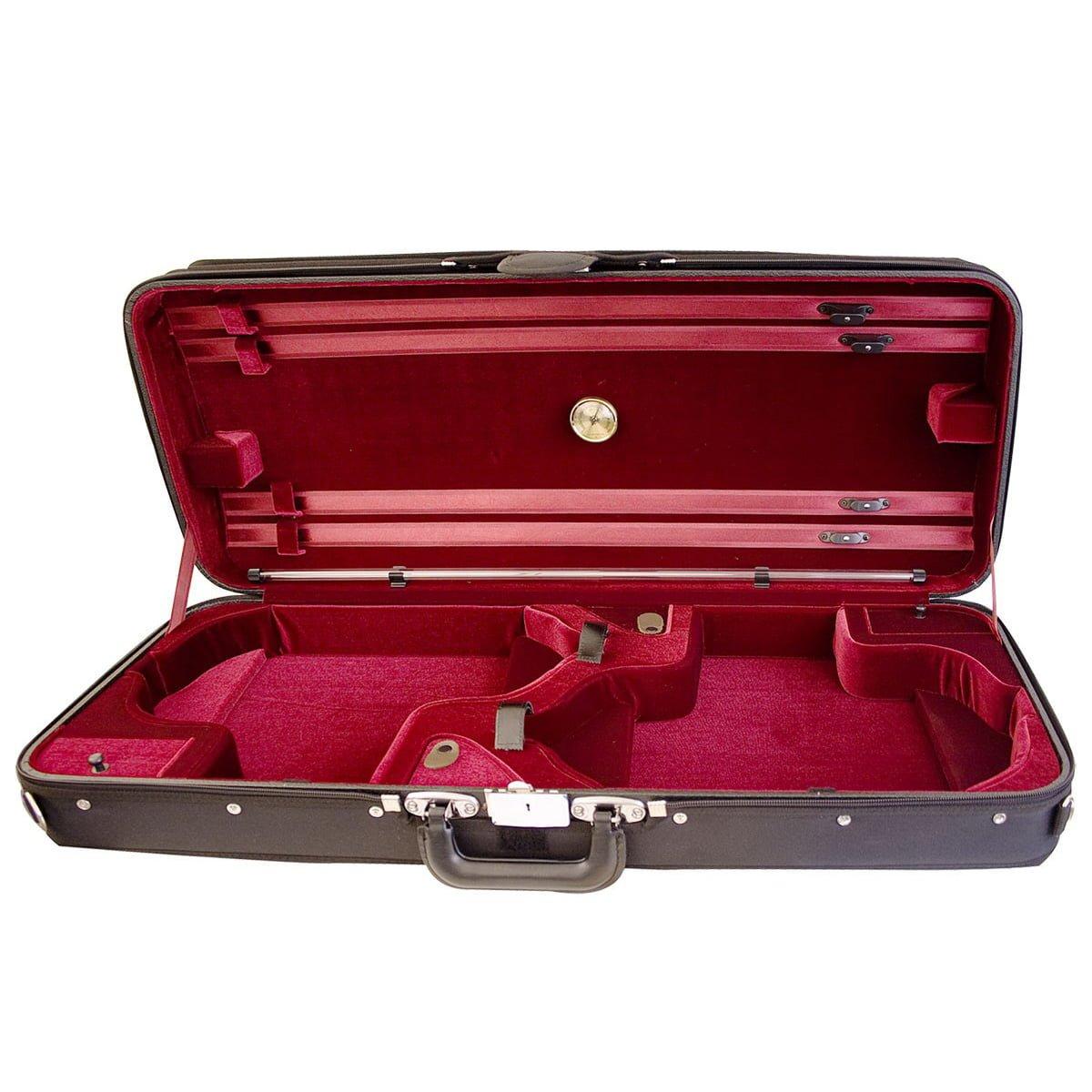 Hidersine Case Violin Double Wooden Arched Top DVC102 open