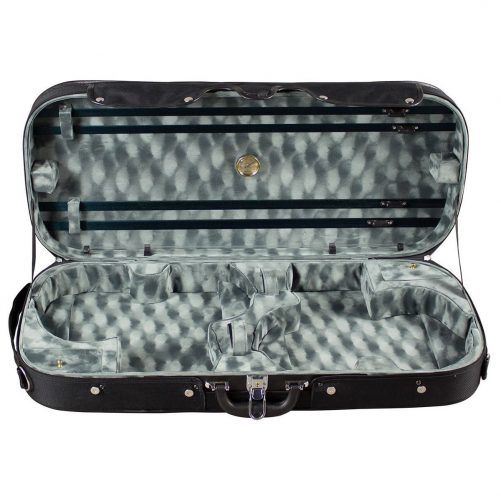 Hidersine Case Violin Double Wooden DVC104