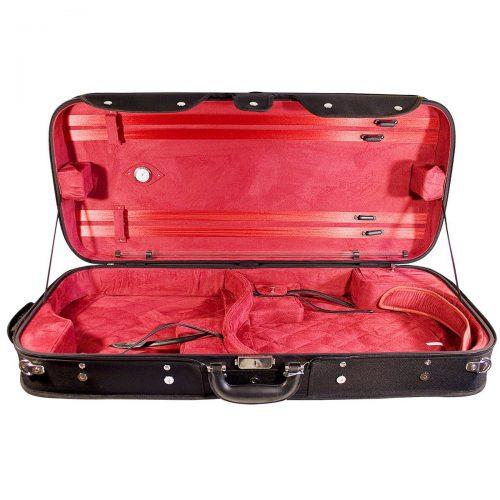 Hidersine Case Violin Viola Double with Wooden Arched Top dvv100 Interior