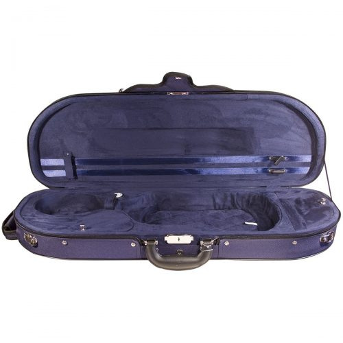Hidersine Case Violin Super Light D-Shaped vc105_open