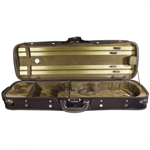 Hidersine Oblong Wooden Shell Violin Case VC106 Open