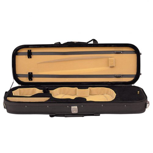Hidersine Case Violin 4/4 Light Oblong - Black VC206