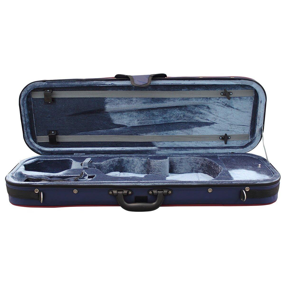 Hidersine Oblong Violin Case 4/4 vc20a Open