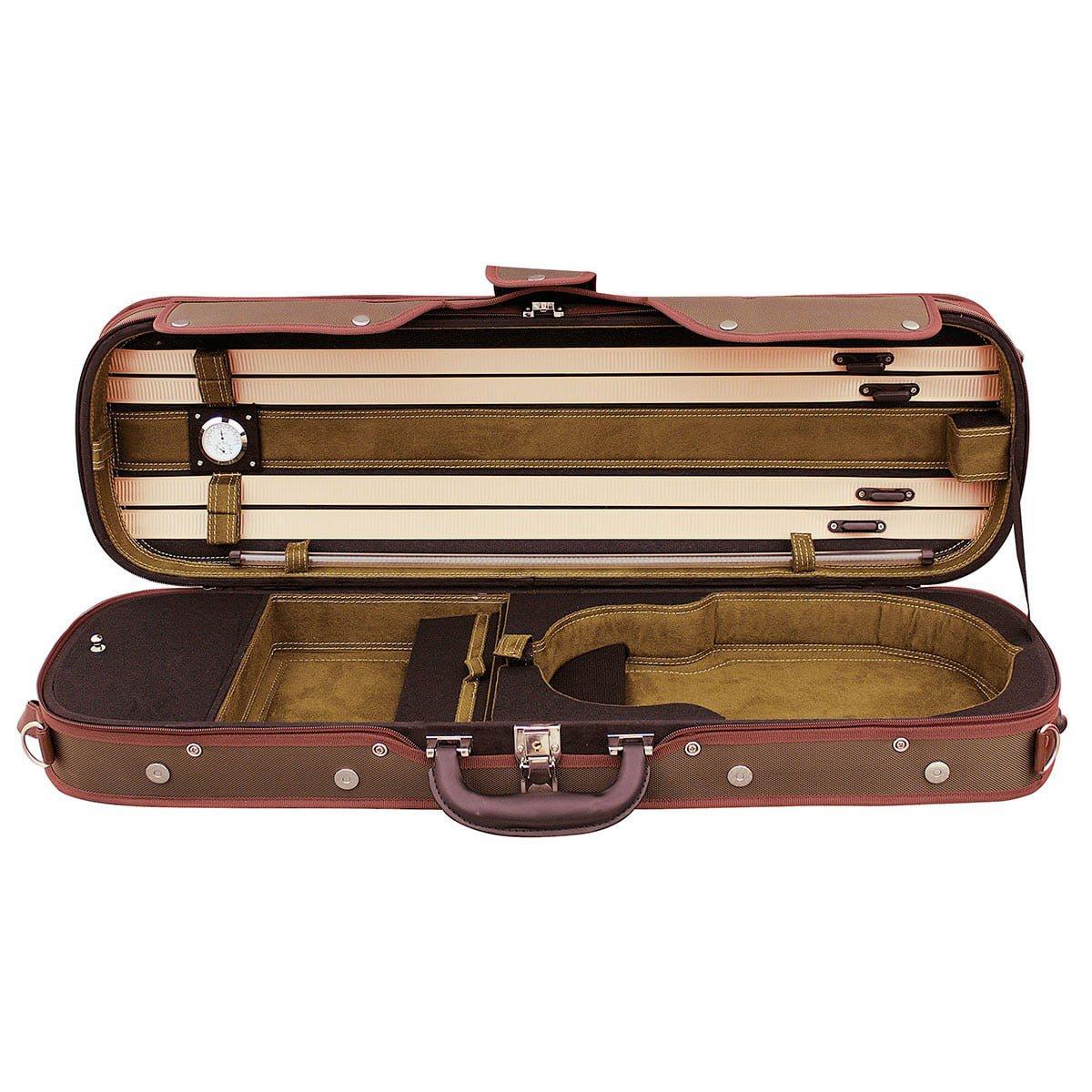 Hidersine Case Violin 4/4 Light Oblong VC802 Open