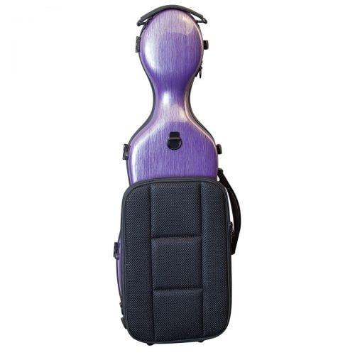 Hidersine Violin Case Polycarbonate Gourd Brushed Purple Back