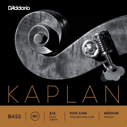 Kaplan Double Bass Set of Strings 3/4 Medium Tension