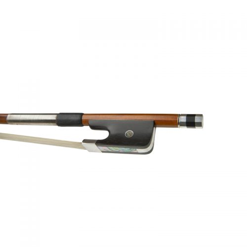 Double bass bow, pernambuco, pearl inlay