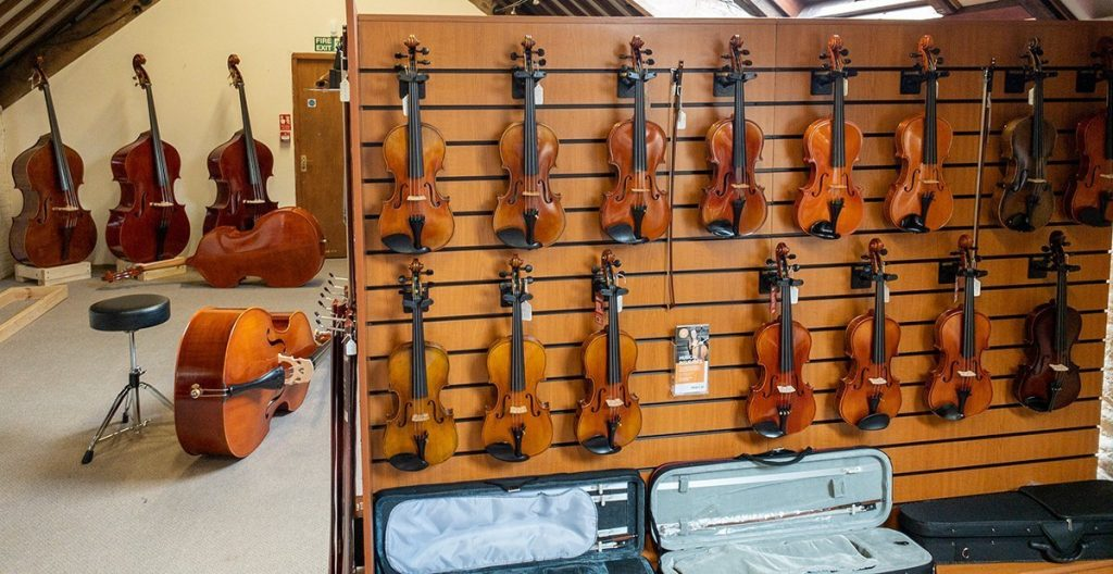 Violins for sale in our Showroom