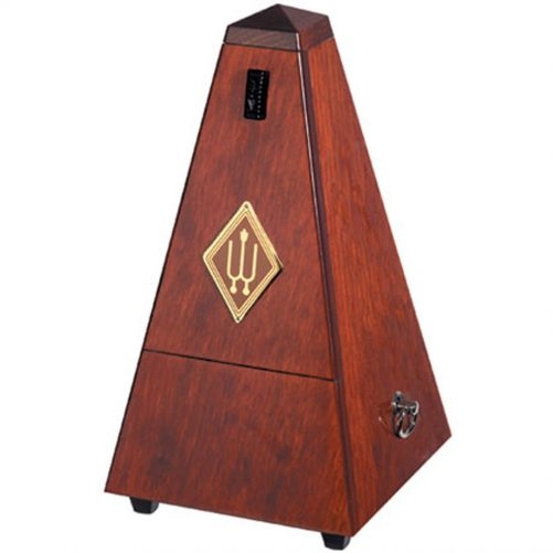 Wittner Metronome. Wooden. Mahogany Colour. With Bell 1626