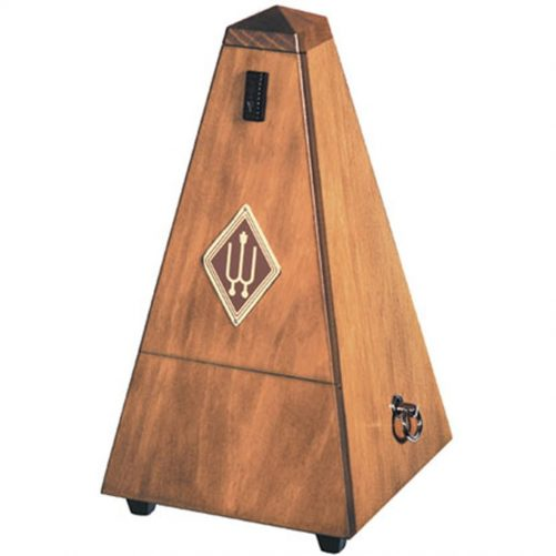 Wittner Metronome. Wooden. Walnut Colour. With Bell 1626P