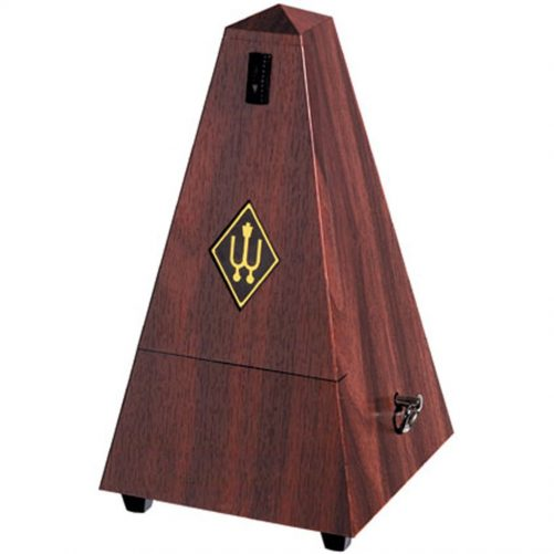 Wittner Metronome. Plastic. Mahogany Colour. With Bell 2181