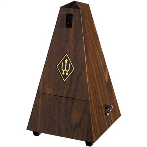 Wittner Metronome. Plastic. Walnut Colour. With Bell 2183