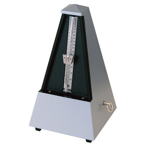 Wittner Metronome Plastic Silver. With Bell 2188