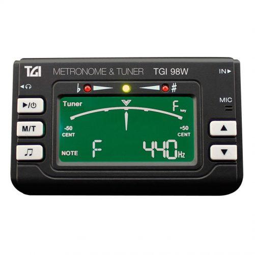 TGI Tuner Woodwind  Brass Tuner and Metronome with Clip On Mic. TGI98W