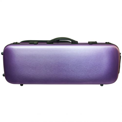 Hidersine Case Polycarbonate Viola Oblong Brushed Purple VAPC1PR