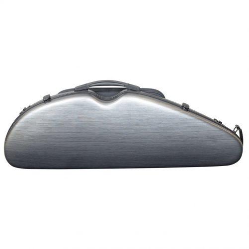 Hidersine Case Polycarbonate Violin Halfmoon Brushed Silver VNPC2BK