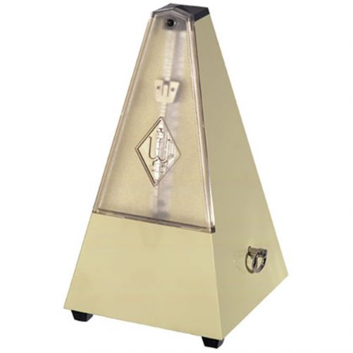 Wittner Metronome. Plastic. Ivory White. With Bell. W817K