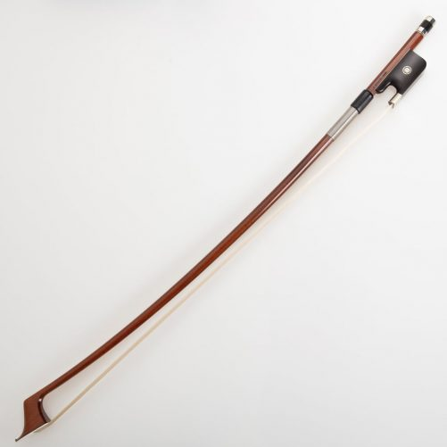 V.Schaeffer Double bass bow with detailed eye and Nickel silver windings