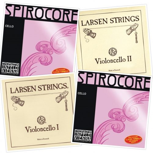 Spirocore Silver and Larsen Original Cello Strings Combination Set