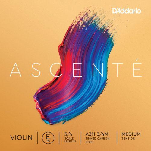 Ascente Violin E String 3/4 Medium