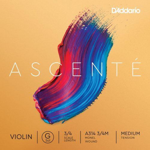 Ascente Violin G String 3/4 Medium