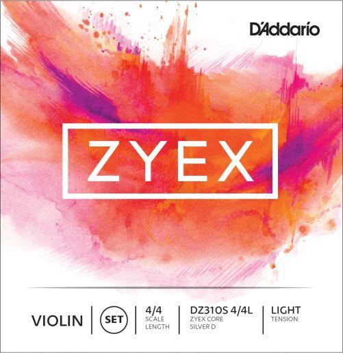 Zyex Violin Set of Strings (Silver D) 4/4 Low