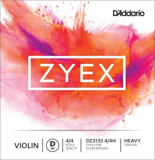 Zyex Violin D String 4/4 High Silver